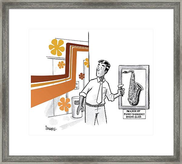 In Case Of Funky Emergency Break Glass Framed Print