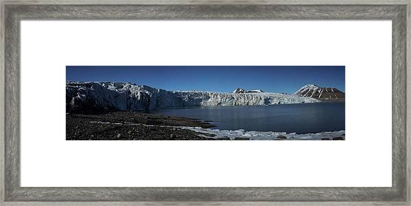 In Front Of A Glacier On Svalbard Framed Print