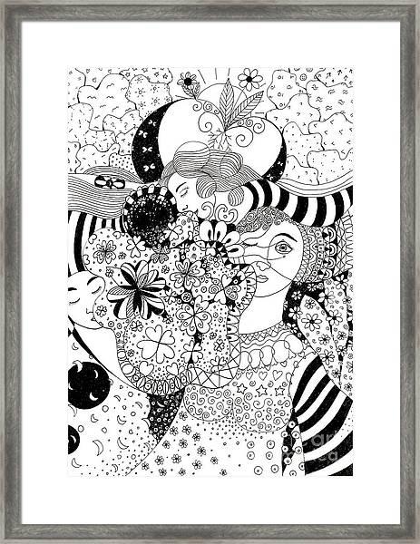 In Light And Dark Framed Print