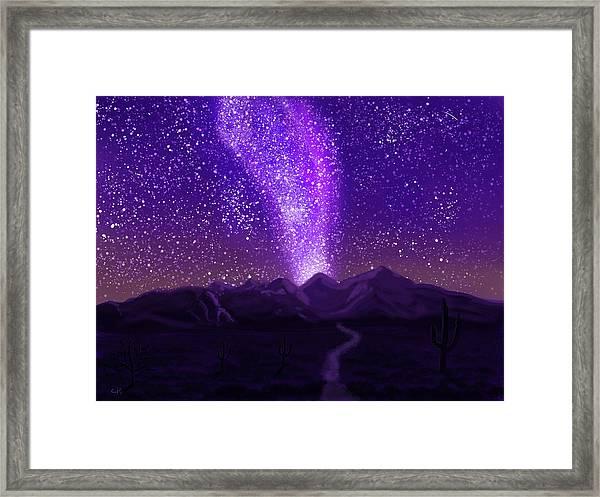 In The Arizona Night Framed Print