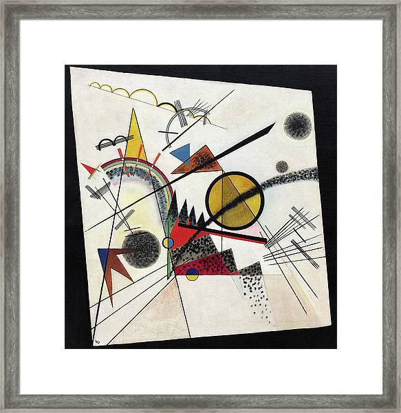 In The Black Square - Im Schwarzen Viereck Framed Print