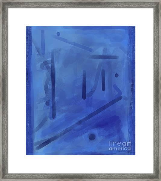 In The Blue Mist Framed Print