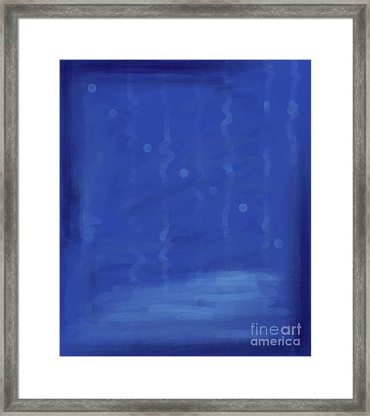 In The Blue Water Framed Print
