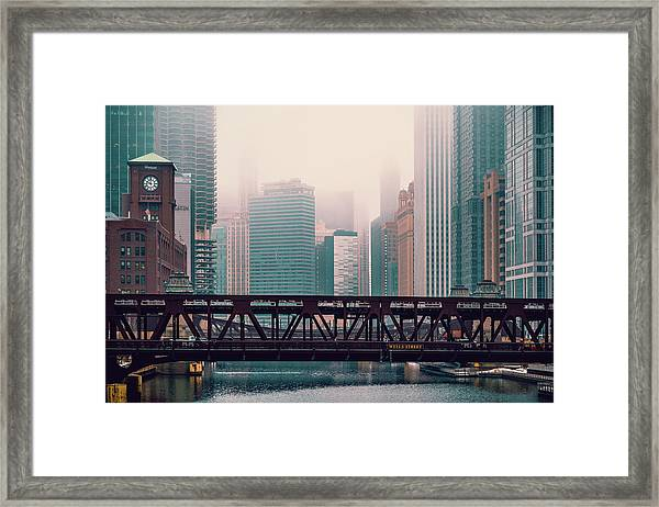 In The Fog Framed Print