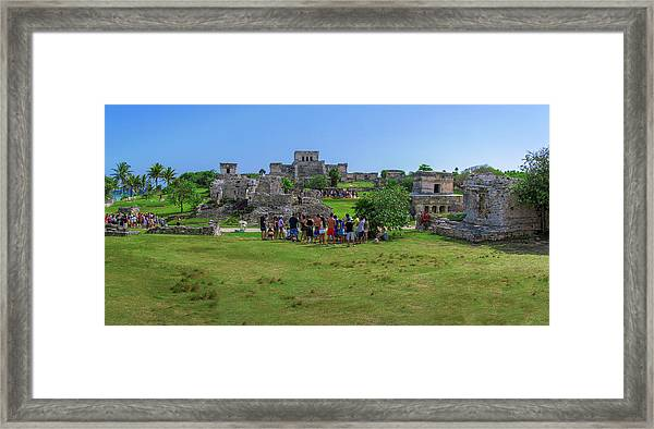 In The Footsteps Of The Maya Framed Print