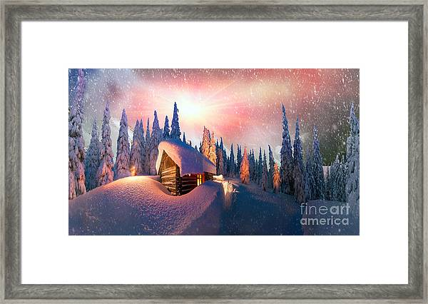 In The High Mountains, Among The Wild Framed Print