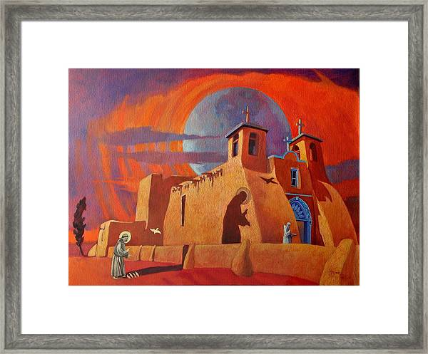 In The Shadow Of St. Francis Framed Print