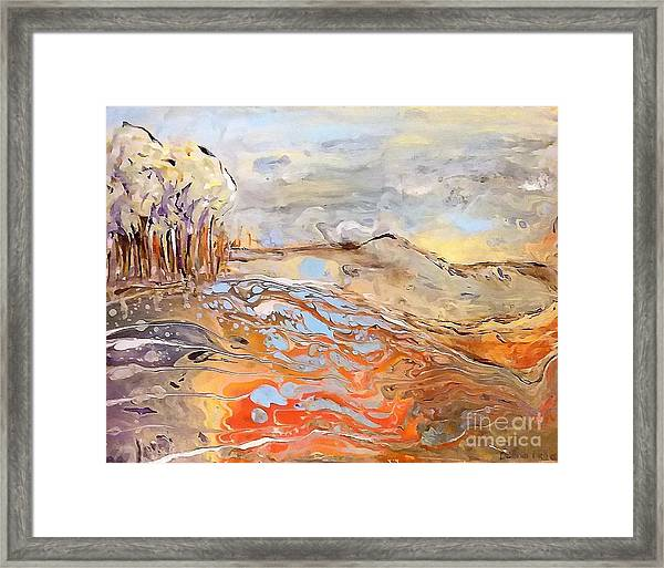 In The Valley Framed Print