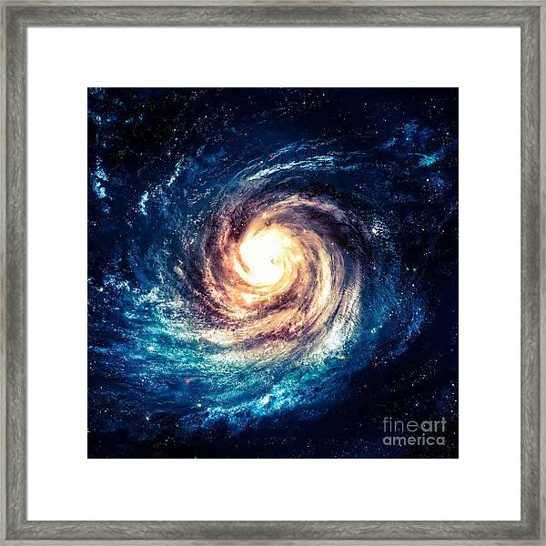 Incredibly Beautiful Spiral Galaxy Framed Print