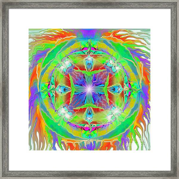 Indian Mandala Framed Print