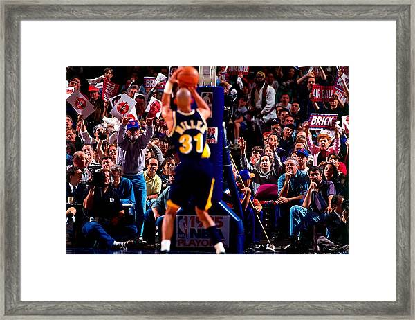 Indiana Pacers V New York Knicks, Game 1 Framed Print