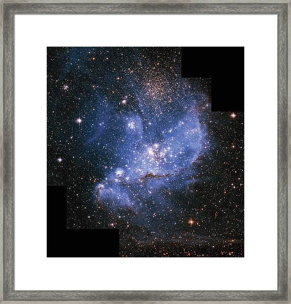 Infant Stars In The Small Magellanic Framed Print