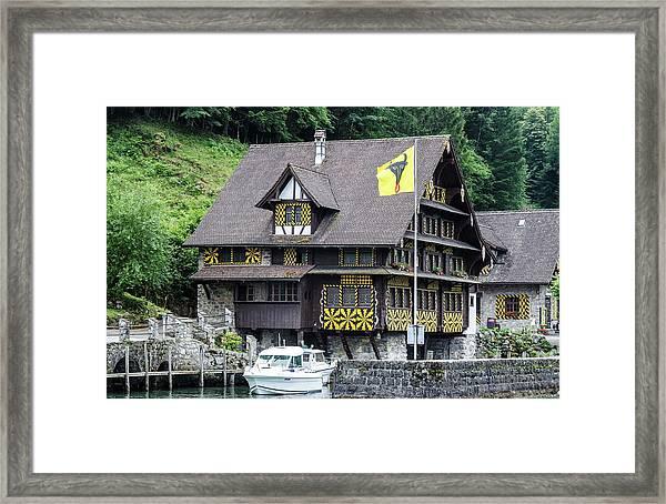 Inn On Lake Lucerne Framed Print