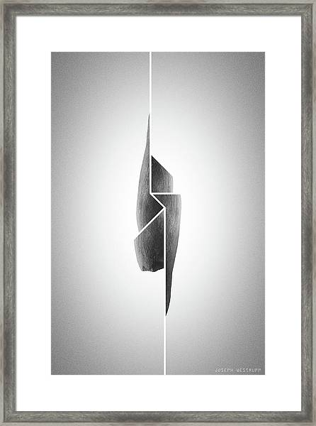 Innaiant Coal Redux - Surreal Abstract Jawbone Collage Framed Print