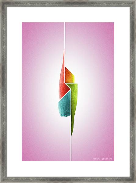 Innaiant Ice Cream Redux - Surreal Abstract Jawbone Collage Framed Print