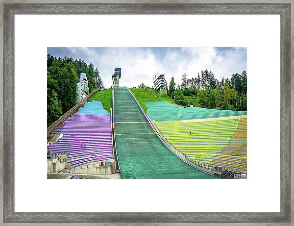 Innsbruck Olympic Stadium Framed Print