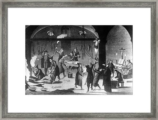 Inquisition Tortures Framed Print