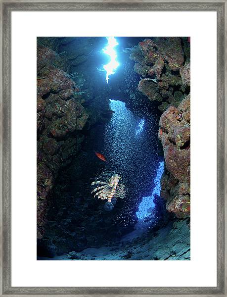 Inside Canyon Framed Print