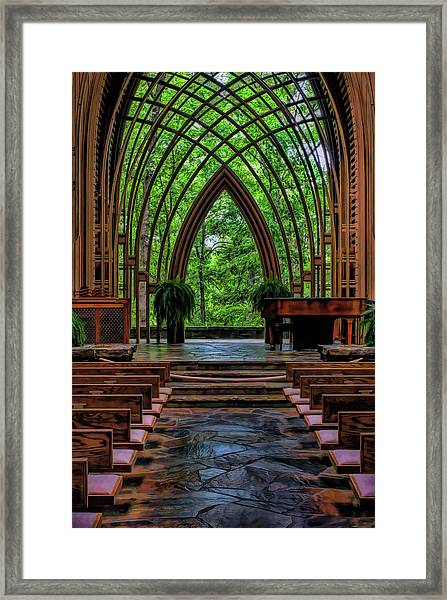 Inside The Chapel Framed Print