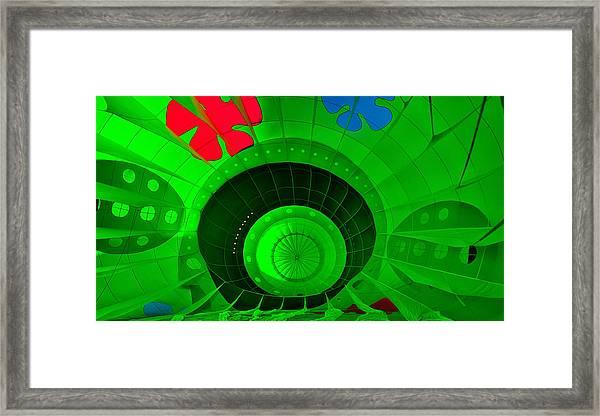 Inside The Green Balloon Framed Print