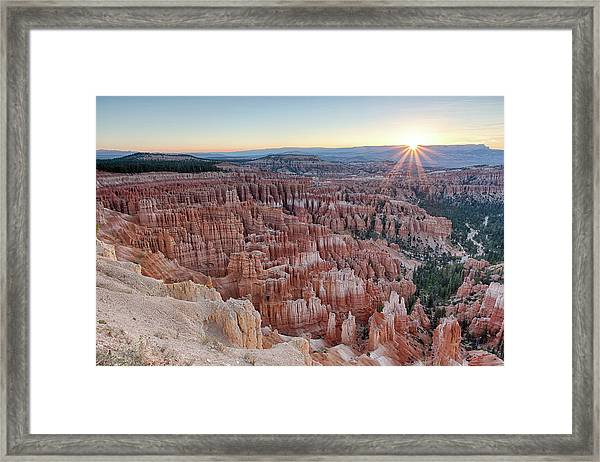Inspiration Point Sunrise Bryce Canyon National Park Summer Solstice Framed Print