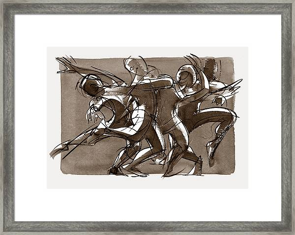 Interaction Framed Print