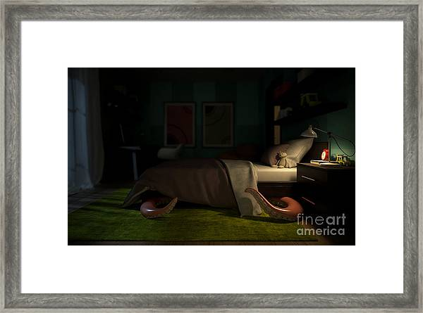 Interior Childrens Room With A Framed Print