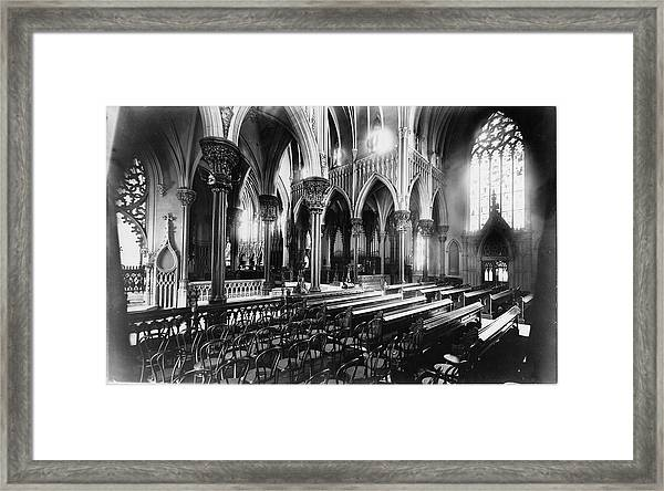 Interior Garden City Cathedral Framed Print