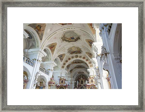 Interior Of Abbey Of Saint Peter Chapel Framed Print