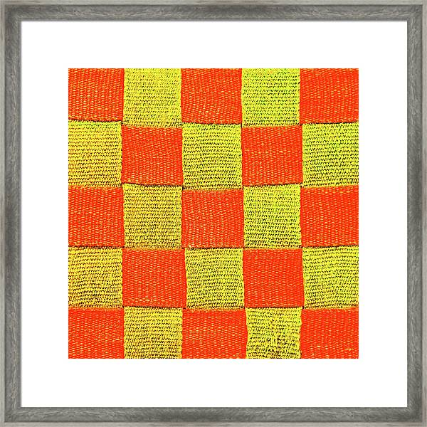 Interlaced Canvas Straps 1 Framed Print
