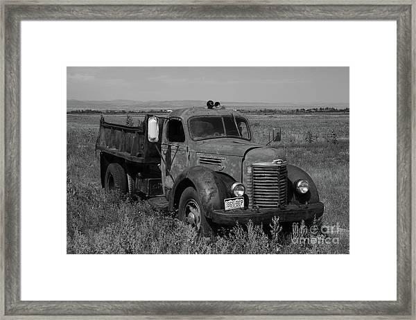 International Dump Truck Framed Print