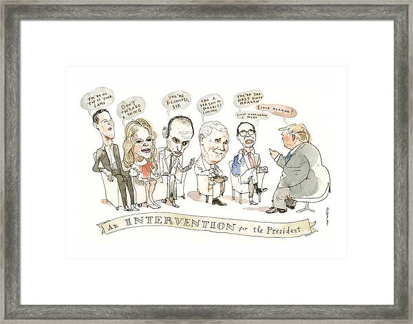 Intervention For The President Framed Print