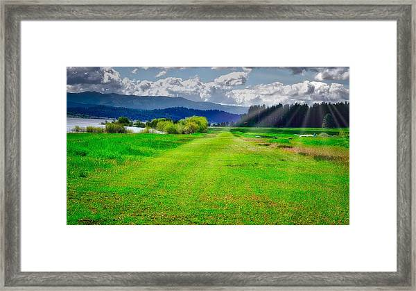 Inviting Airstrip Framed Print