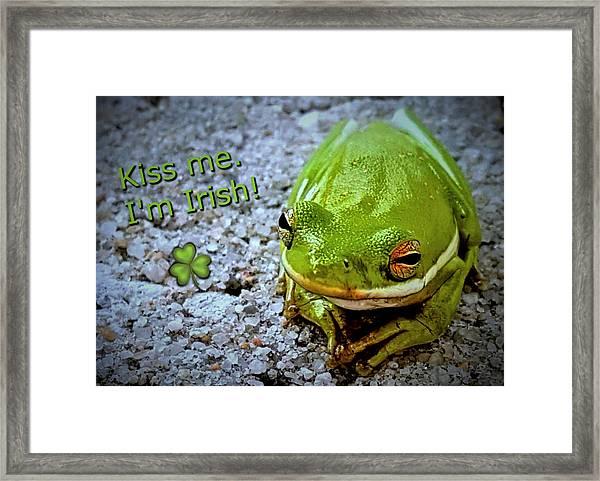 Irish Frog Framed Print
