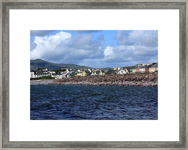 Irish Seaside Village, Co Kerry  Framed Print