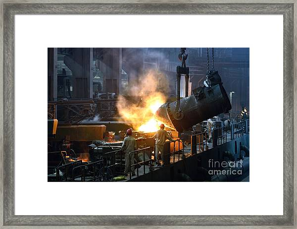Iron And Steel Factory Workshop Framed Print