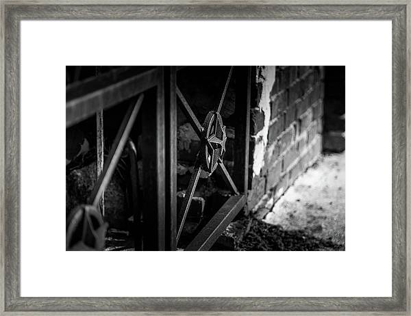Iron Gate In Bw Framed Print