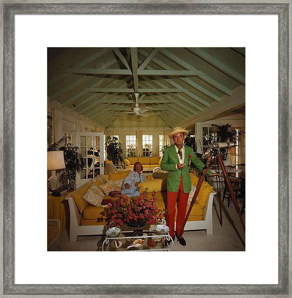 Island Lookout Framed Print by Slim Aarons