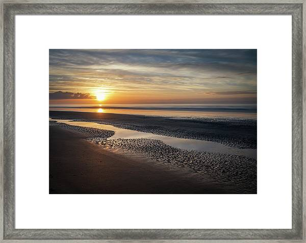 Isle Of Palms Morning Patterns Framed Print