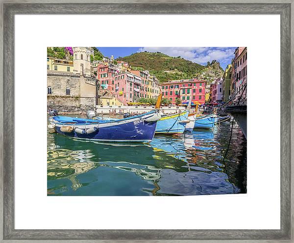 Italian Riviera Old Fashion Fishing Framed Print by Guy Midkiff