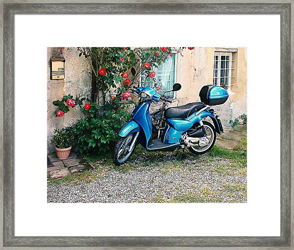 Italian Scooter  Framed Print by Christine Buckley