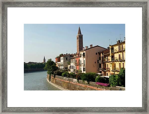 Italy, Veneto, Verona, Listed As World Framed Print
