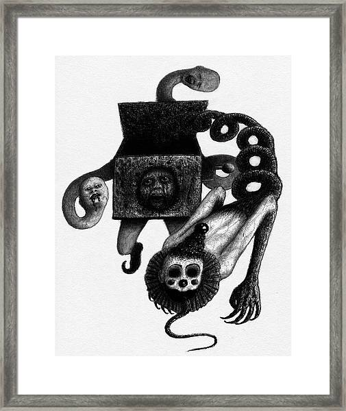 Jack In The Box - Artwork Framed Print
