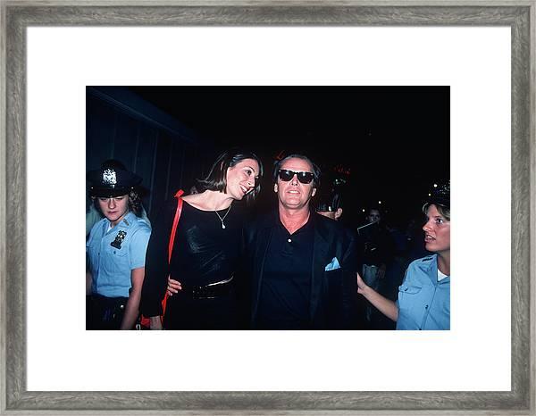 Jack Nicholson, Anjelica Huston Framed Print by Art Zelin