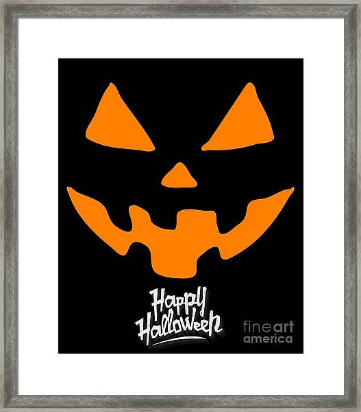 Jackolantern Pumpkin Happy Halloween Framed Print