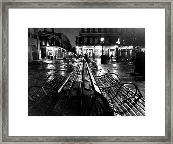 Jackson Square In The Rain Framed Print