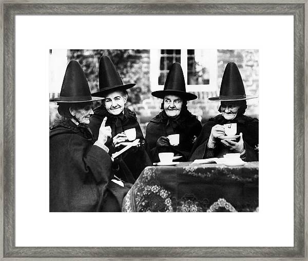 Jacobean Tea Framed Print by Fox Photos