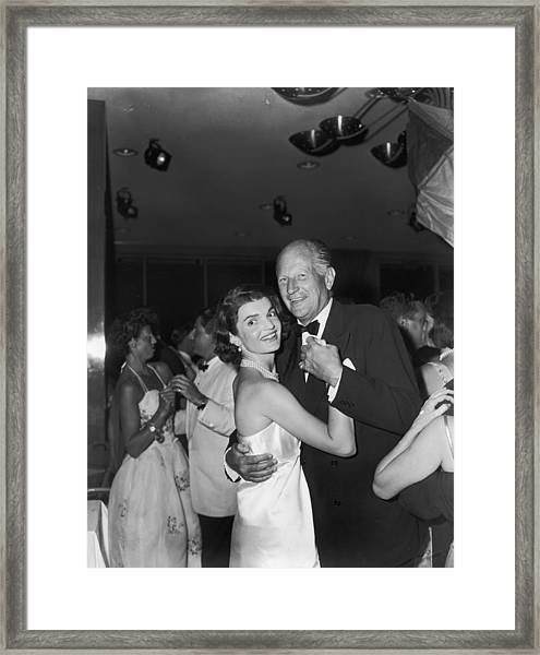 Jacqueline Kennedy Dances With Earl Framed Print
