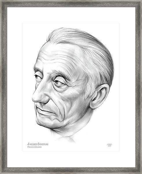 Jacques-yves Cousteau Framed Print
