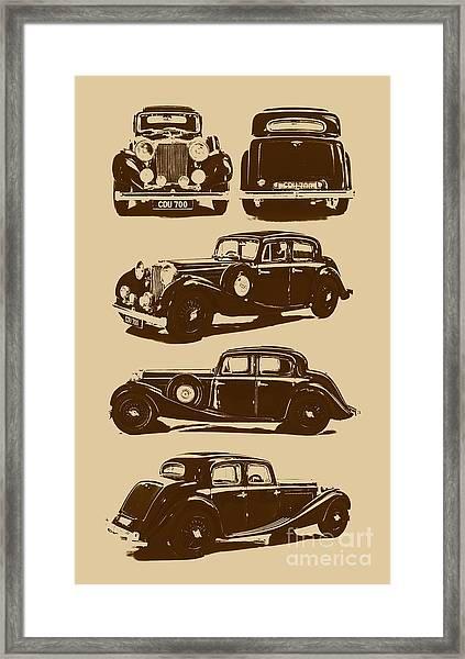 Jaguar Mark Iv Ss 2.5 Saloon Framed Print
